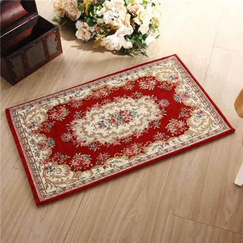 European Classical door mat 40*60cm 90*140cm polyester flower carpet rug for living room decor tapis alfombra tepete huarache