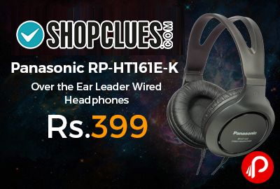 Shopclues is offering 50% off on Panasonic RP-HT161E-K Over the Ear Wired Leader Headphones at Rs.399 Only. Leader series headphone, Sensitivity 98 dB/mW, Maximum Power Input 1000 mW, Minimum Frequency Response 10 Hz, 2 m Cord Length, 1 Year Warranty Summary.  http://www.paisebachaoindia.com/panasonic-rp-ht161e-k-over-the-ear-leader-wired-headphones-at-rs-399-only-shopclues/