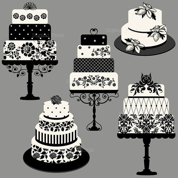 Elegant Wedding or Birthday Cake Clip Art set - 5 high quality (300 dpi) PNG floral and damask printable digital elements perfect for scrapbooking, card making, invitations, graphic design etc. All elements are on a transparent background. Personal and small commercial use for your crafting and creative projects. Watermark will not appear on your images. Please note that colors may slightly vary due to your monitor settings. This is a digital file. No physical product will be sent. Do...