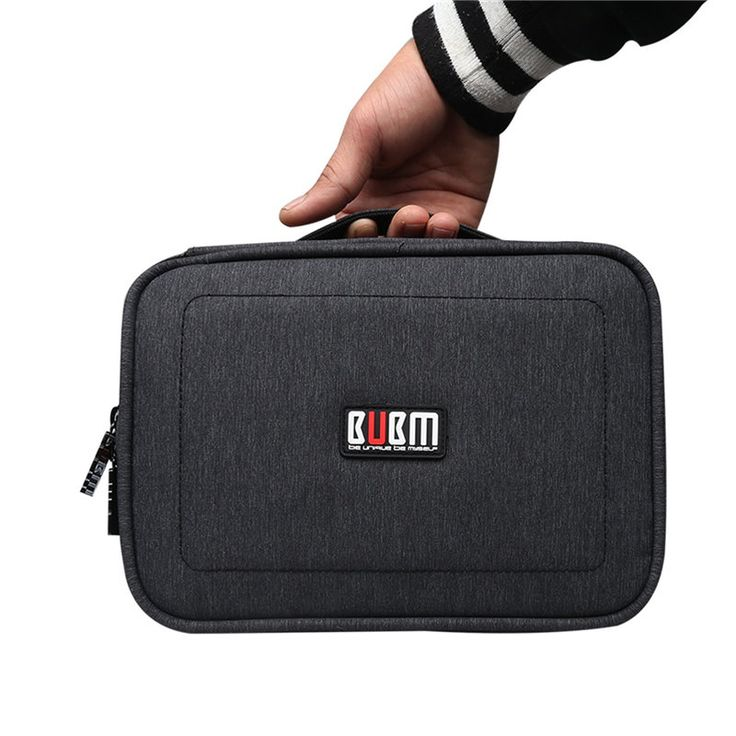 BUBM DPS-S Double Layer Electronics Accessories Cable Organizer Data Cable Storage Bag Carry Case Sale - Banggood.com  smartphones cellphones mobile accessories