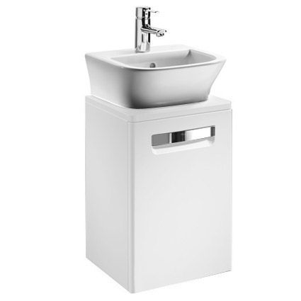Roca - The Gap wall hung base unit with basin W400 x D320 - Matt White