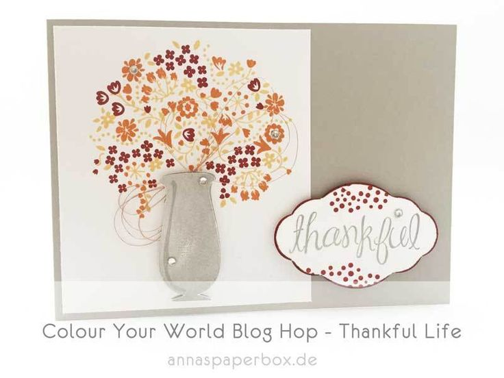 Colour Your World Blog Hop - Thankful Life - anna's paperbox