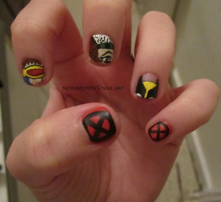 18 best Nerd Nail Art images on Pinterest | Comic book nails, Nail ...