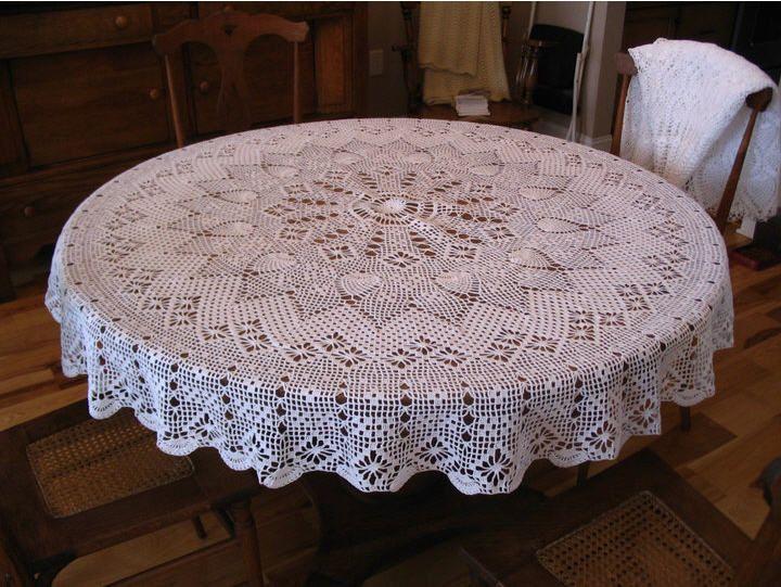 Free Round Tablecloth Patterns | Crochet Pattern Round Tablecloth Original Patterns