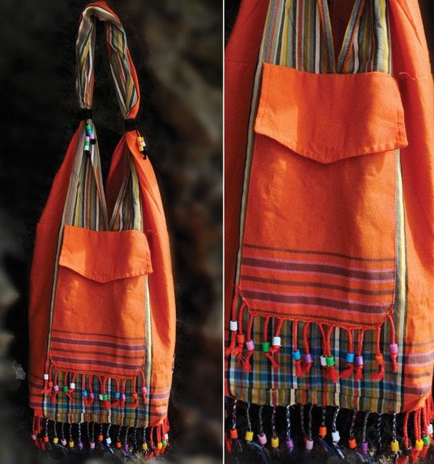 Bolso de tela de Kikoy Africano