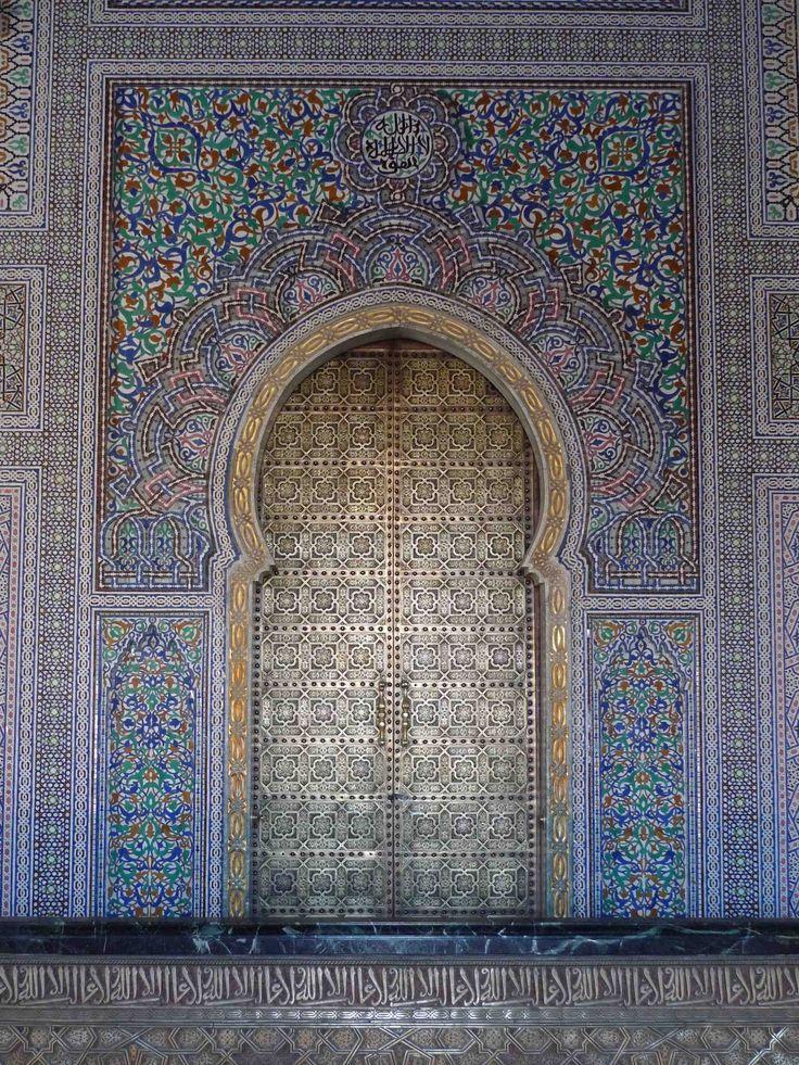 Africa Tile Zellij And Bronze Doors The Mausoleum Of