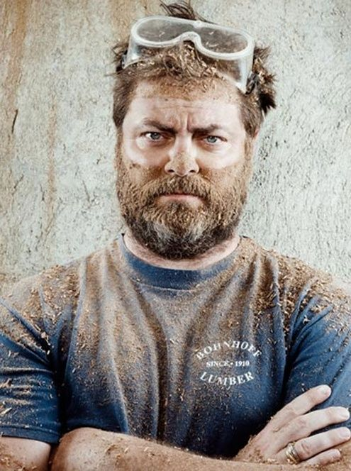 Image result for nick offerman manly picture woodworking