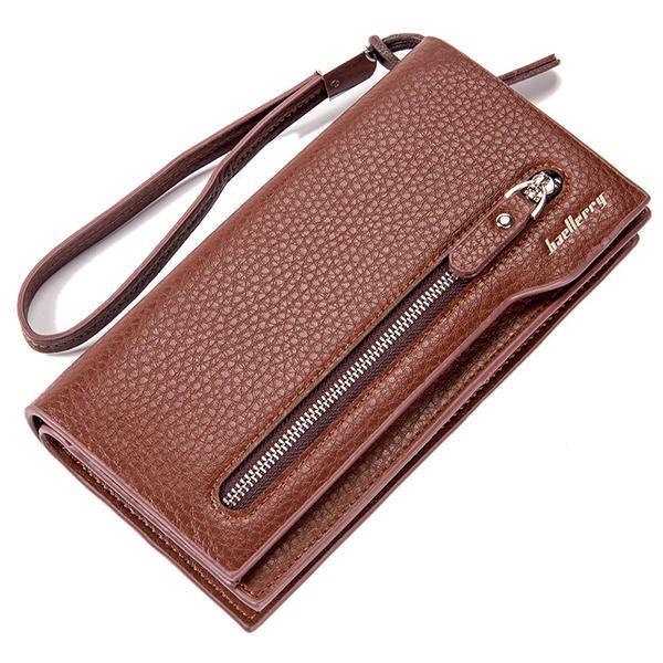 Men Long Purse Mens Wallet Money Clip Business Clutches Bag Credit Card Holder