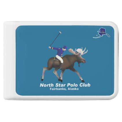 North Star Moose Polo Club Power Bank - animal gift ideas animals and pets diy customize
