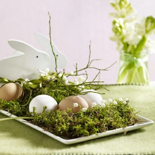 Ostern 2014 – coole Osterdeko selber basteln - Ostern 2014 frühlingsblumen gras maiglöckchen