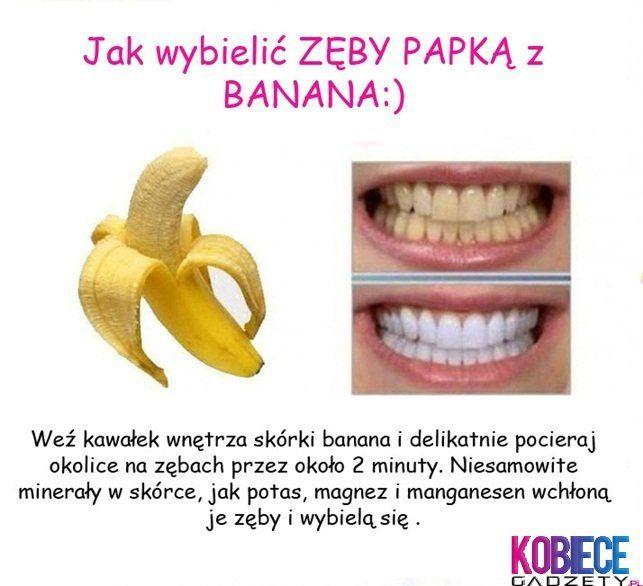 Jak WYBIELIĆ zęby PAPKĄ z BANANA:) Próbowałaś już...?