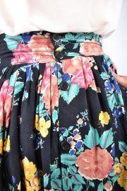 gebloemde vintage rok met zakken