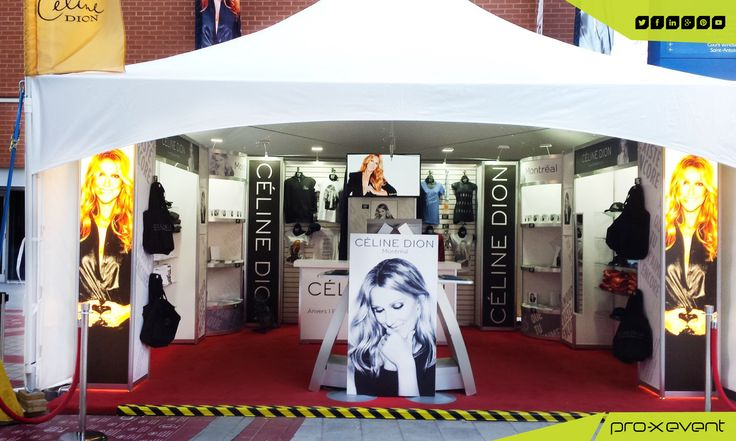 our great custom rental event display that we created for Celine Dion lifestyle brand at the Centre Bell in Montreal. At pro-x event, we specialise in creating custom displays that our clients can use again and again. #custom #rental #event #display #Toronto www.proxevent.ca