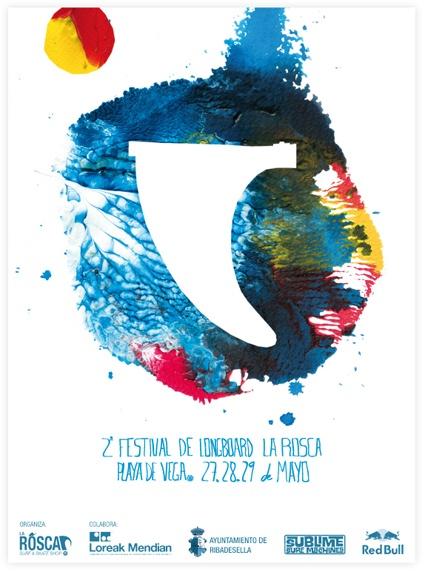 La Rosca Longboard Festival's Poster by @LoreakMendian