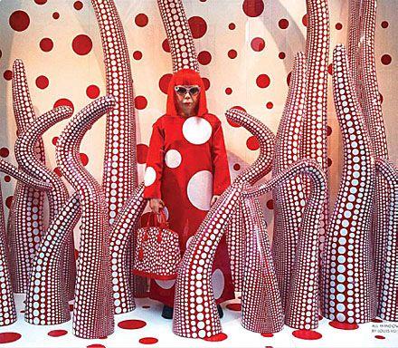 Yayoi Kusama Window for Louis VuittonLouis Vuitton, Stores Design, Art Inspiration, 5Th Ave, Graphics Design, Stores Windows, Luis Vuitton, Kusama Windows, Art Fashion