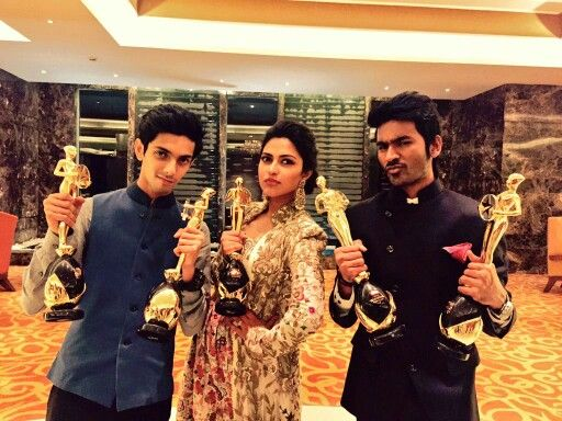 The VIP team: Anirudh, Dhanush and Amala Paul