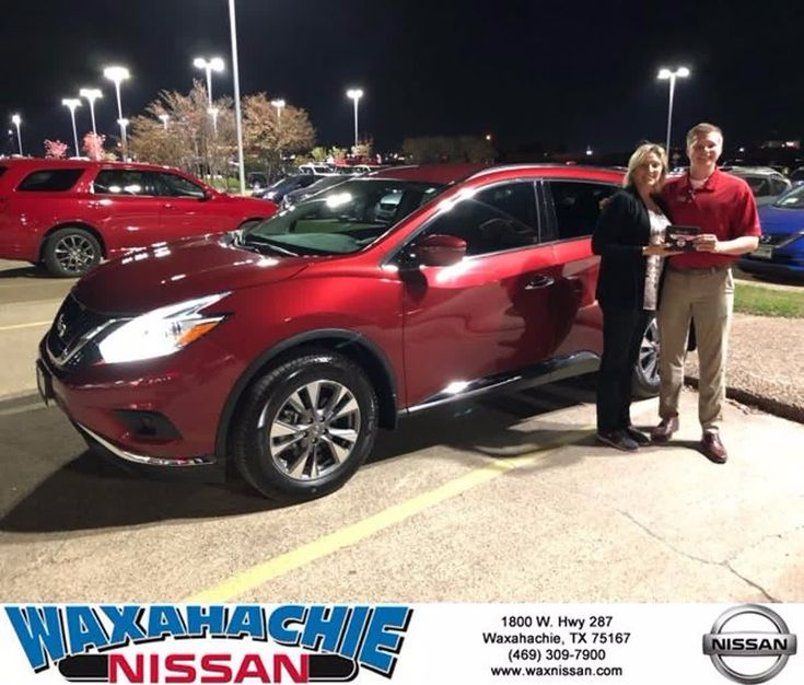 Our experience at Waxahachie Nissan was fabulous. Russell McAnally, in Sales and Oscar Boyd in Finance were very personable and professional. Purchasing my 2017 Murano was the easiest and fastest experience I've ever had at a car dealership. Truly a Five-Star rating! - Jackie Pressley #HappyCustomers #FridayFeeling