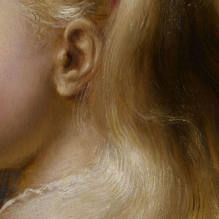 Jan Lievens: Una giovane ragazza. Olio su tavola del 1629-35. 45 X 38,3 cm. Collezione privata. La ragazzetta non è bella, ma è dotata di una grande massa di sottili, biondissimi, lunghi capelli: le morbide onde dorate sono magnificamente ritratte da Jan Lievens, che non per nulla era collaboratore di Rembrandt.