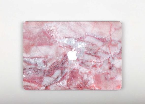 Rose Marble Macbook Pro 13 Sticker Glossy Macbook Pro Retina 15 Skin Stone Print Mac 12 Decal Macbook Air 13 Cover Macbook Air 11 RS3225