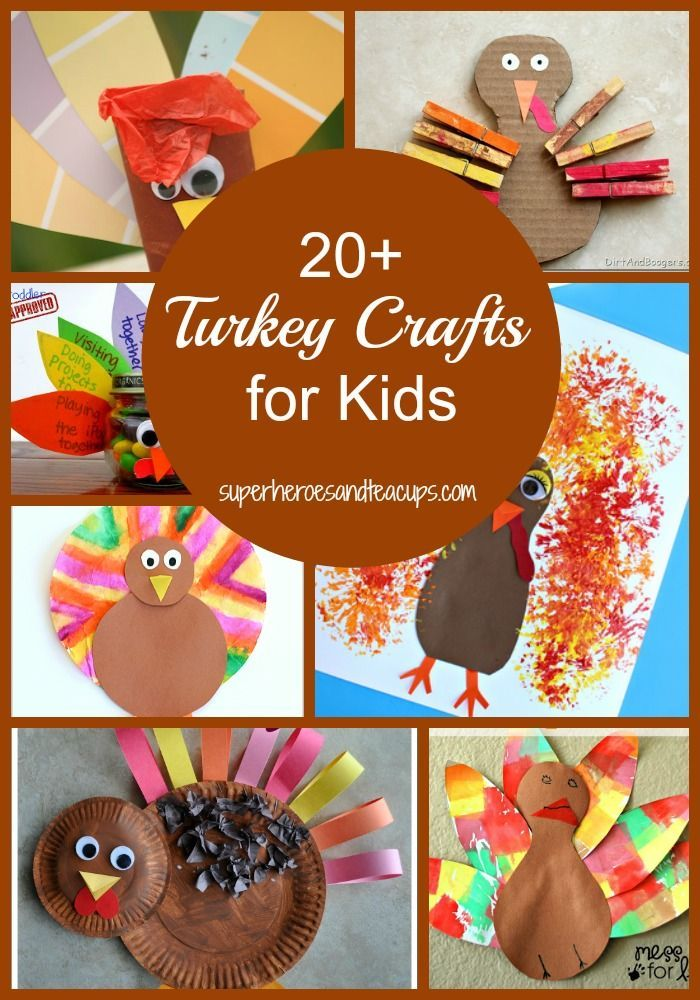 More than 20 Thanksgiving turkey crafts for kids.