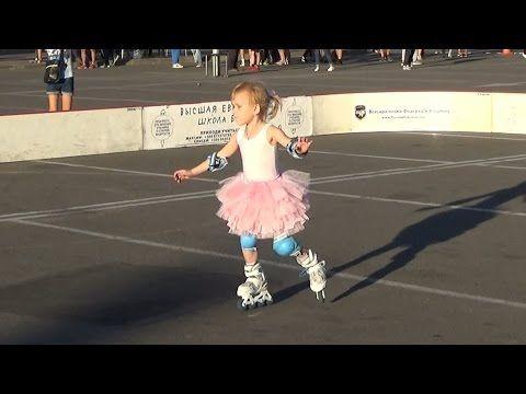 Фигурное катание на роликах (дети). Показательное выступление (1) в День физкультурника-2016. Сумы - YouTube