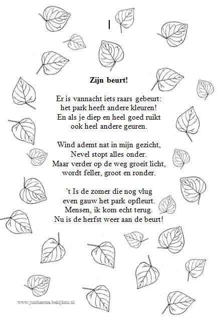 Versje om voor te lezen -herfst