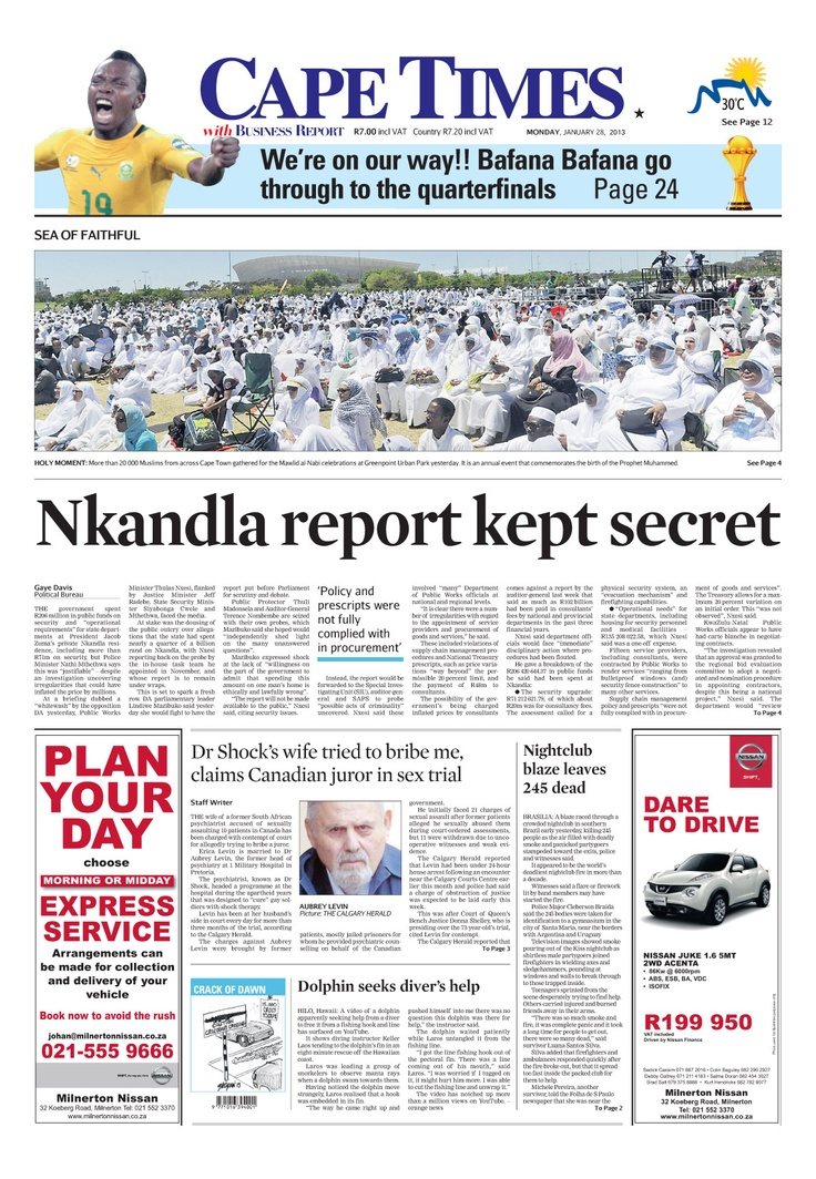 News making headlines: Nkandla report kept secret