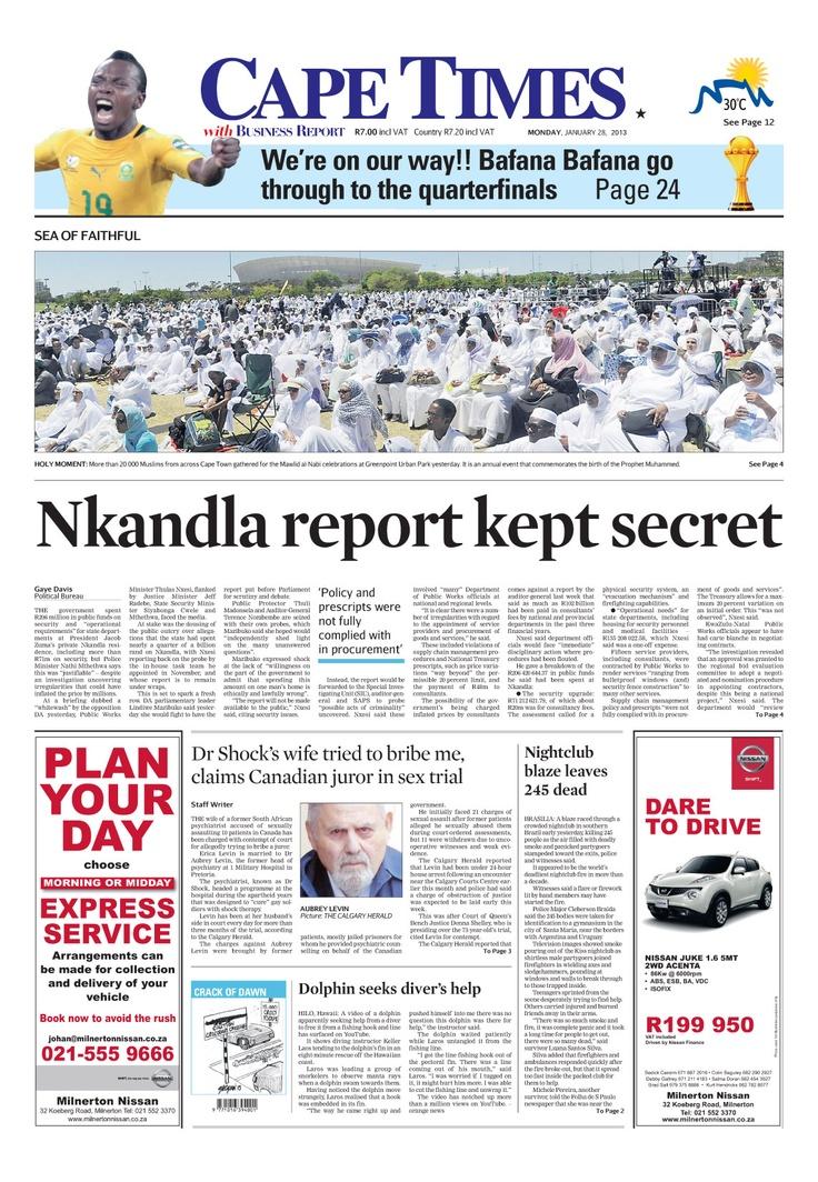 News making headlines: Nkandla report kept secret