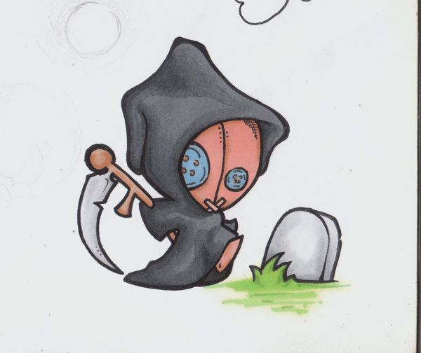 Maybe a little grim reaper themed doll would be amazing. Voodoo Death Doll by Ashes360.deviantart.com on @deviantART