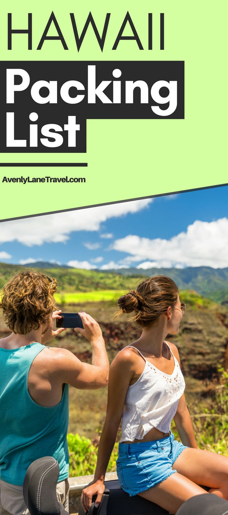 Are you planning a trip to Hawaii and not sure what to bring? This Hawaii packing list will help you get organized for your beach vacation. It covers the best Hawaii beach wear, outfits, shoes, dresses for Hawaii, electronics and so much more! Read the full article on Avenlylanetravel.com | #hawaii #Islands #packinglist #travel #beaches