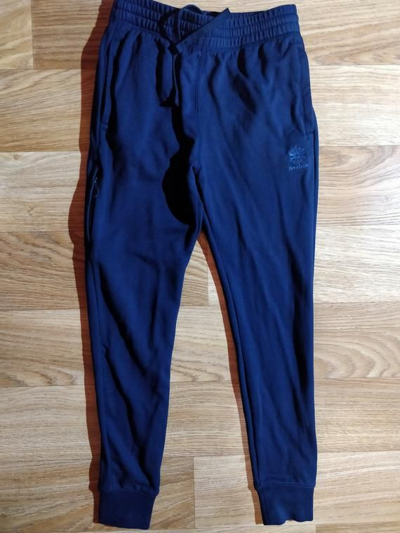 7b376d2f0b26 Reebok Classic Womens Tracksuit Pants Trousers Training Navy Blue Joggers  Cotton