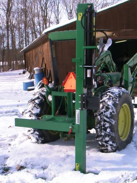 How do you hook up a hydraulic log splitter to your 1956 Ford 850 tractor
