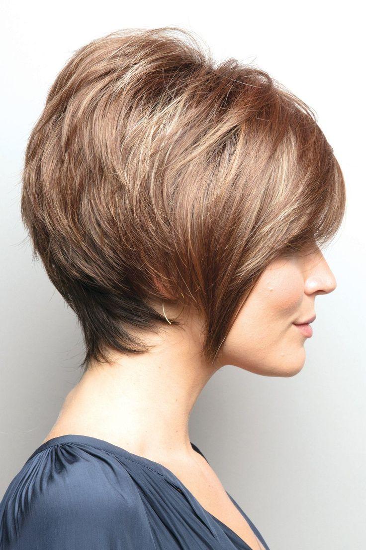 Стрижка короткие волосы с поднятым затылком фото