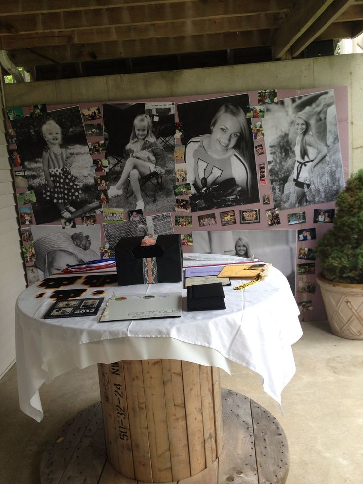 graduation open.house ideas | DIY graduation open house decor! I displayed my ... | Class of 2014