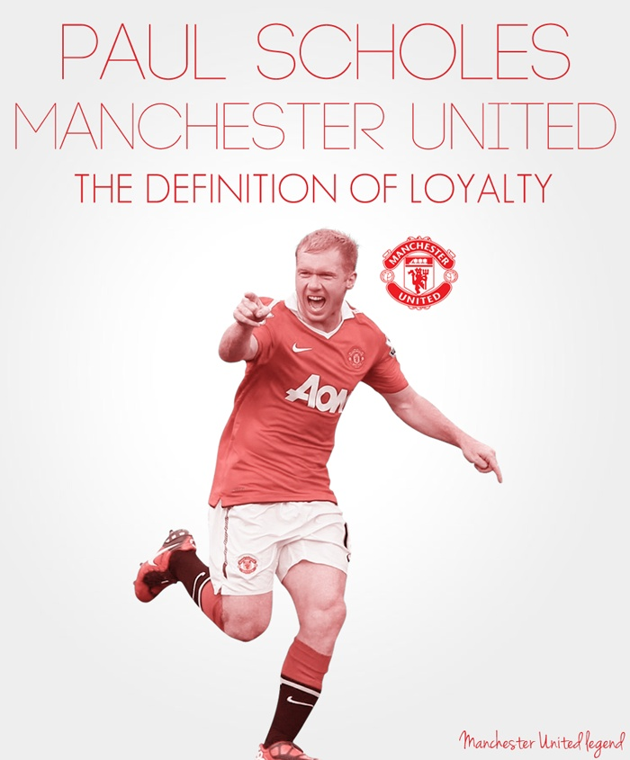Paul Scholes Illustration - Manchester United legend