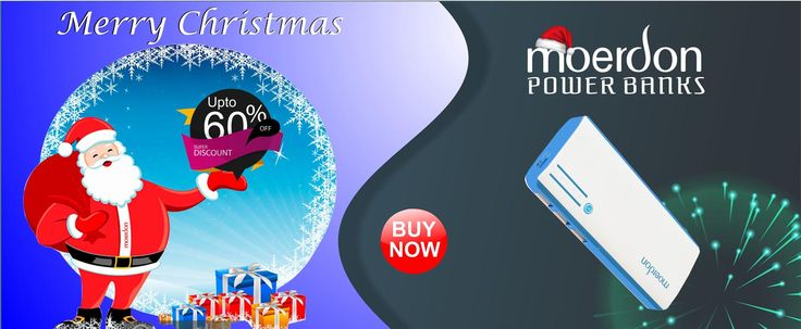 Get Best Christmas Offers on amazon.in  Grab this marvellous Piece of Cake, Three USB Output Moerdon Power Bank 10000mAh
