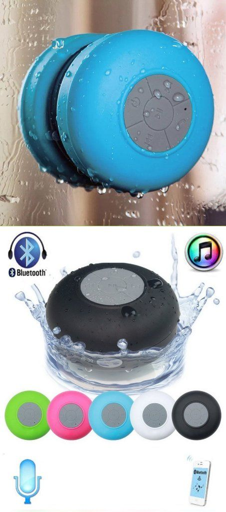 Mini Ultra Portable Waterproof Wireless Bluetooth Speaker with Suction Cup for Showers, Bathroom, Car, Outdoor - Sticks anywhere