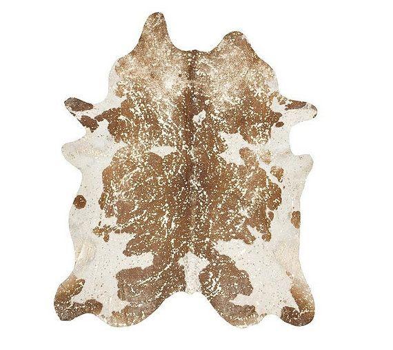Säuregebranntes Rindsleder Teppich  Beige/Bronze Acid por PuraSpain