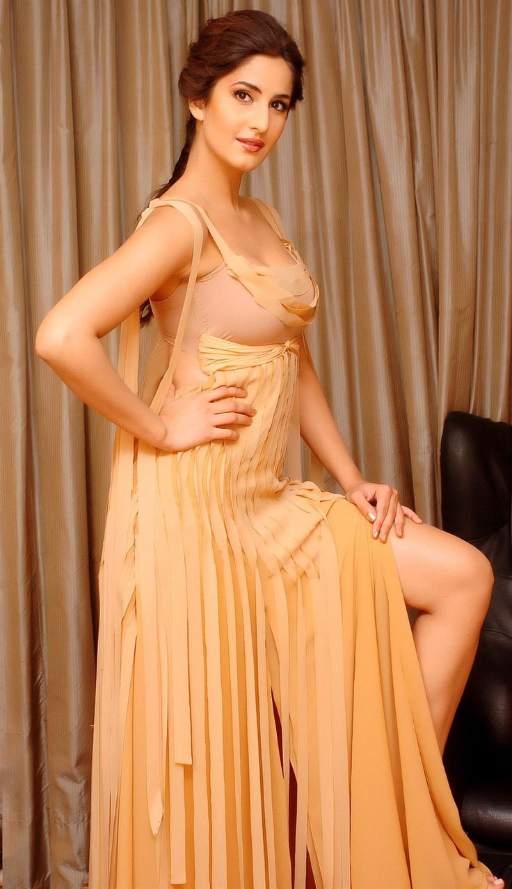 Katrina in shimmer dress