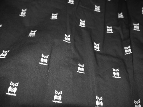 Fabric used in winter collection 2014. Owls.