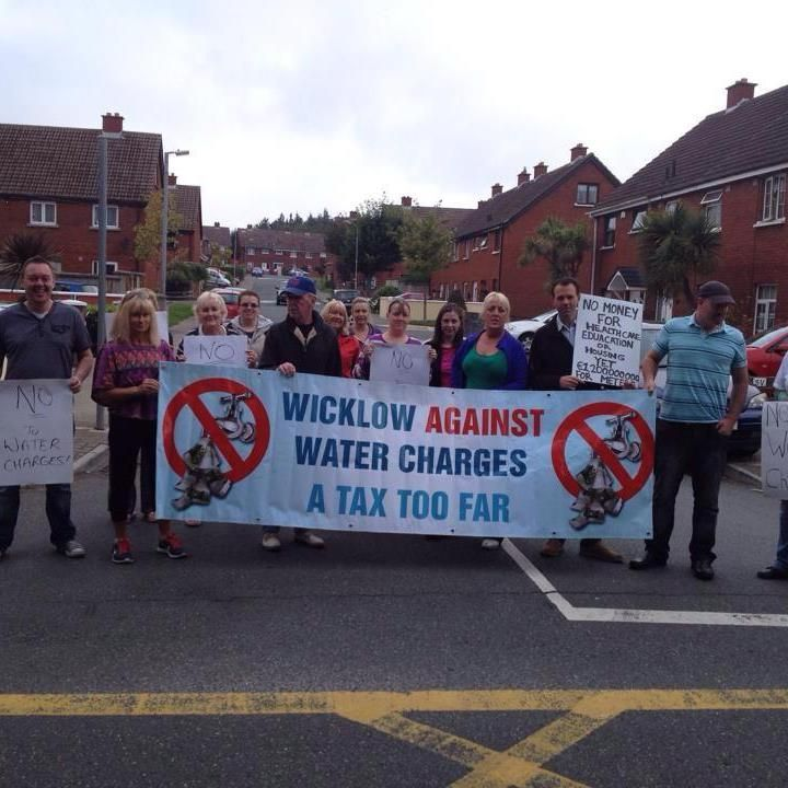 Protests continue in Bray against Irish Water