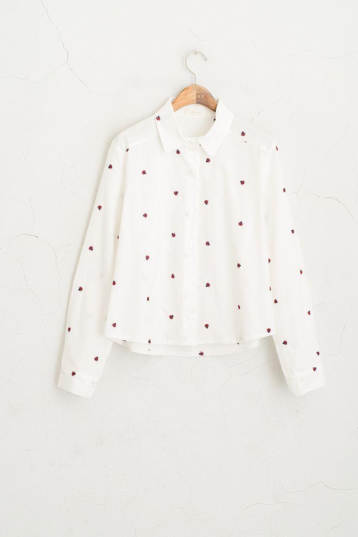 Olive - Ladybug Stitch Cropped Shirt, White, £48.00 (http://www.oliveclothing.com/p-oliveunique-20160216-002-white-ladybug-stitch-cropped-shirt-white)