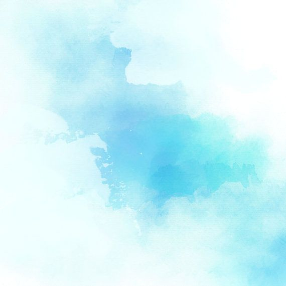 Blue Watercolor Scrapbook Blue Teal Aqua Mint By