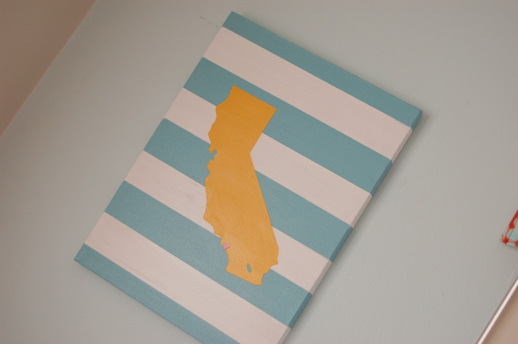 icandy handmade: (iCandy & tutorial) copy-cat State Print - Great idea!  Guess I need to buy the 50 states Cricut cartridge!
