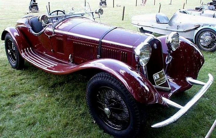 Alfa Romeo 6c 1750 super sport voiture de 1929  L'Alfa Romeo 6c 1750 super sport fut produite de 1929 à 1932, 1 motorisation d'une cylindrée de 1.7L présentant une puissance de 85ch, cette Alfa Romeo 6c 1750 super sport a été produite en 2570 exemplaires, dessinée par Vittorio Jano.