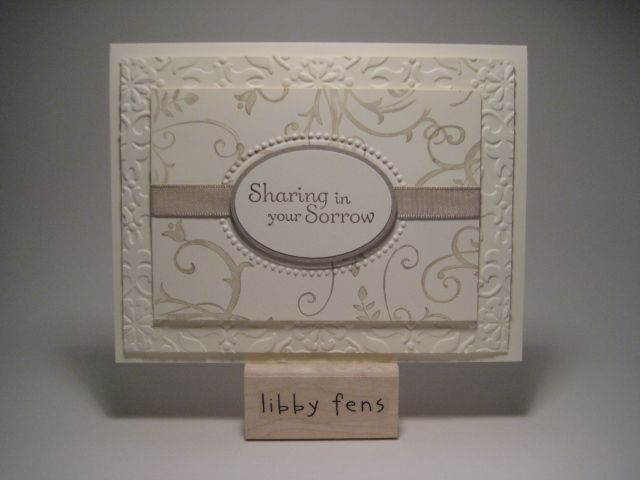 beautiful sympathy card Cards and Paper Crafts at Splitcoaststampers