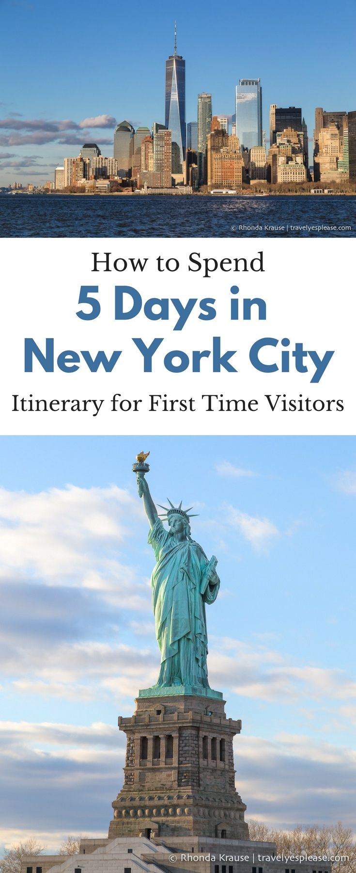 How to Spend 5 Days in New York City- Itinerary for First Time Visitors (Blog post, travelyesplease.com) | #NewYork #NewYorkCity #UnitedStates #NorthAmerica