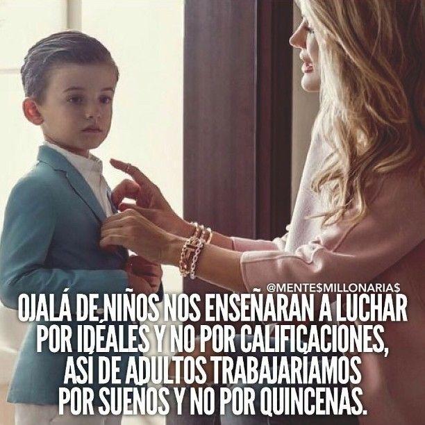 regram @reydelosnegocios Sería estupendo enseñar a los niños a pensar en grande…