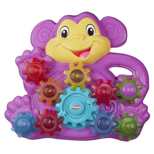 Playskool Stack n Spin Monkey Gears is such a fun toy that keeps my one year old busy for quite awhile. #HottestToys Best Christmas Toys for 1 Year Old Girls - The Perfect Gift Store