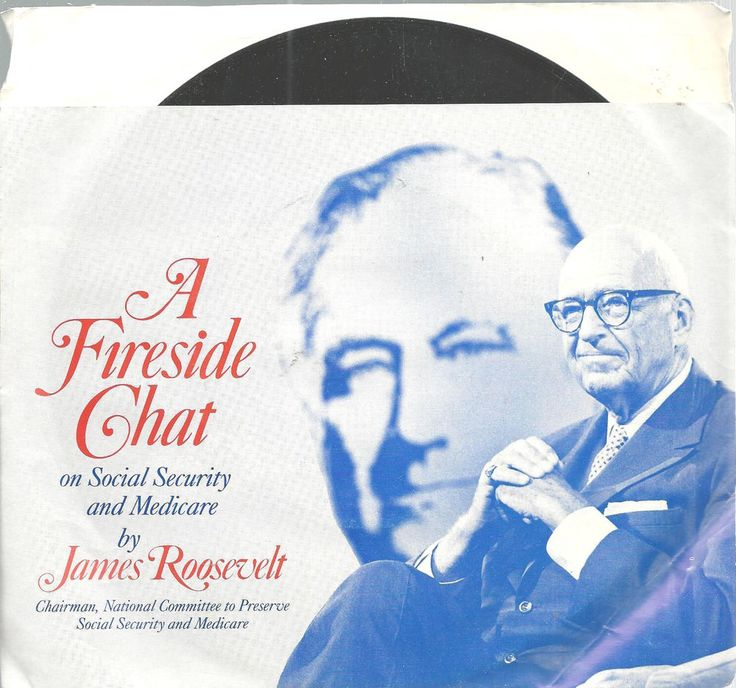 Social Security Medicare Fireside Chat James Roosevelt Anniversary Record 1985   #CommemorativeRecord #informational